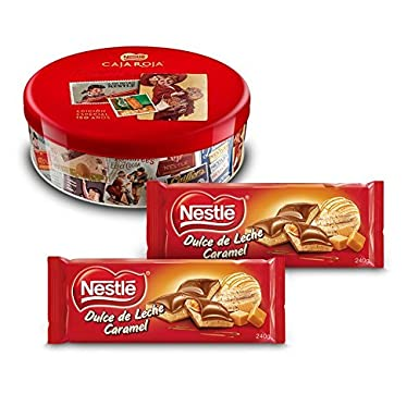 Nestlé Caja Roja (250 g) + Nestlé Chocolate Relleno Dulce de Leche (Pack