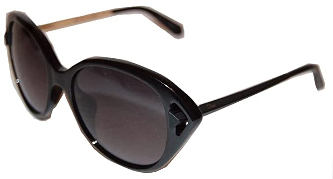 4e59185007d Image Unavailable. Image not available for. Color  Dior GVB Shiny and Matte  Black Chromatic2 Cats Eyes Sunglasses