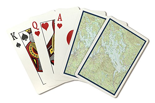 Lake Winnipesaukee, New Hampshire - Map Only (Playing Card Deck - 52 Card Poker Size with Jokers) by Lantern Press