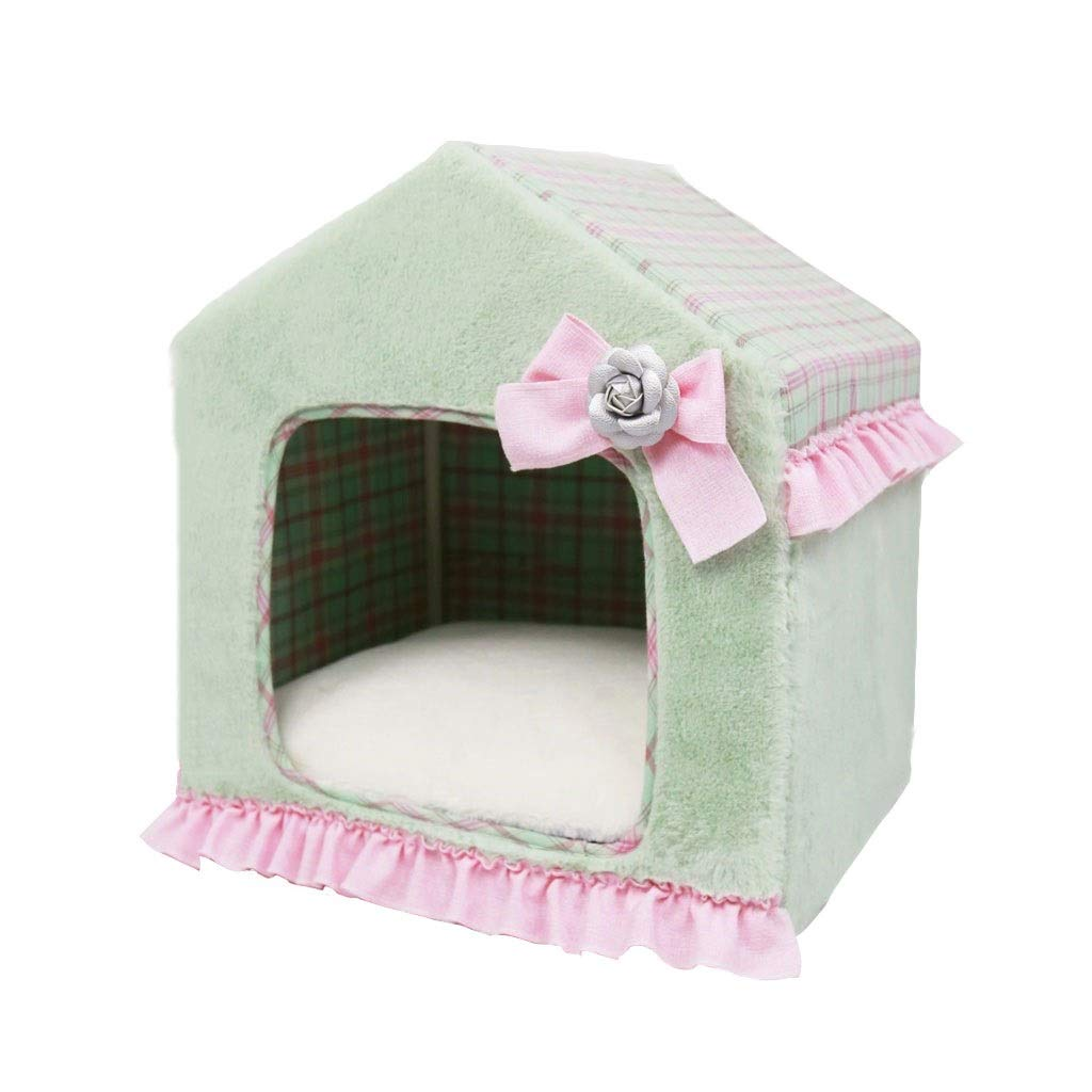584563cm Evav Pet Tent, Autumn And Winter Washable Cat Litter Kennel Pet House Tent Small Dog Teddy Law Fighting Pet House (Size   58  45  63cm)