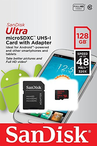 Professional Ultra SanDisk 128GB MicroSDXC works with Samsung Galaxy S5 Active International card is custom formatted for high speed, lossless recording! Includes Standard SD Adapter. (UHS-1 Class 10 Certified 30MB/sec) by SanDisk (Image #4)