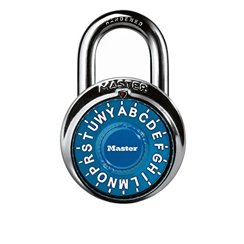 Letter Lock Combination - Master Lock 1535DWD Letter Dial Combination Padlock 1 PackAssorted Colors