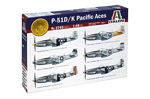 Italeri 1//48 P-51 D// K Aces Pacific # 2743 Plastic Model Kit