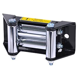 Off Road Truck SUV Jeep Trailer Bolt-on Universal Winch Roller Fairlead 6.4×2.9×2.8 inch