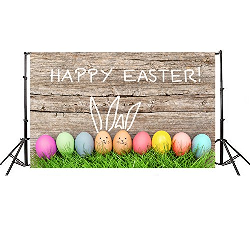 HHmei Easter Day Theme Vinyl Photography Backdrop Custom Photo Background Props Photo Studio 3D Studio Background Cloth (84K) (Easter Veggie Tray)