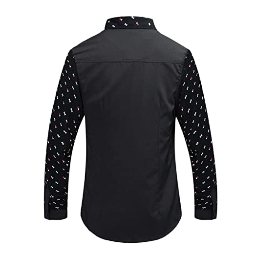 aimee7 camisa para hombre pas barato blusa de manga larga ...