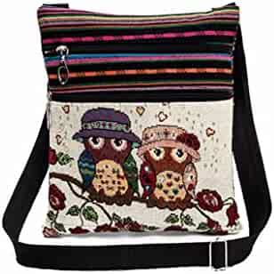 Alixyz Clearance Women Small Bag Embroidered Owl Tote Bags Shoulder Bag  Handbags 59fc0105221aa