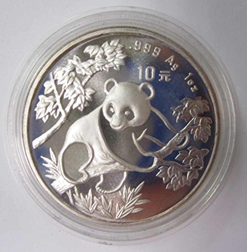 10 Yuan Silver Proof (1992 Chinese 10 Yuan Silver Proof Panda Coin - 1 Ounce .999 Pure Silver)