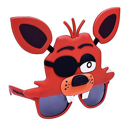Sun-Staches Costume Sunglasses Five Nights Freddy Foxy Fox Party Favors ()