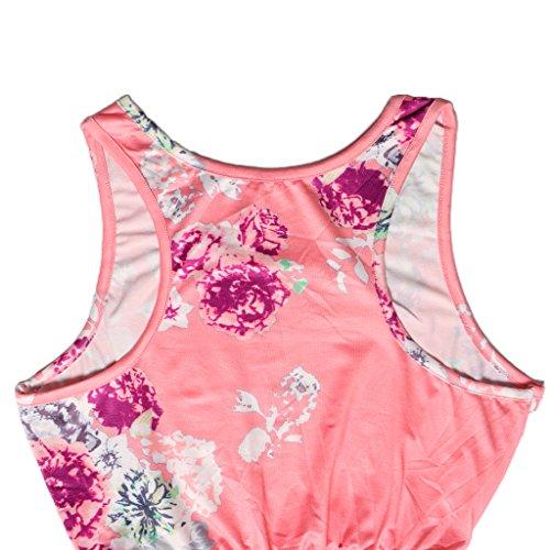 de Pasarela Tamaño Noche rosado Moda para de Verano para Fiesta Club Vestido Diferente Sharplace Casual Color Mujeres xna6XYq