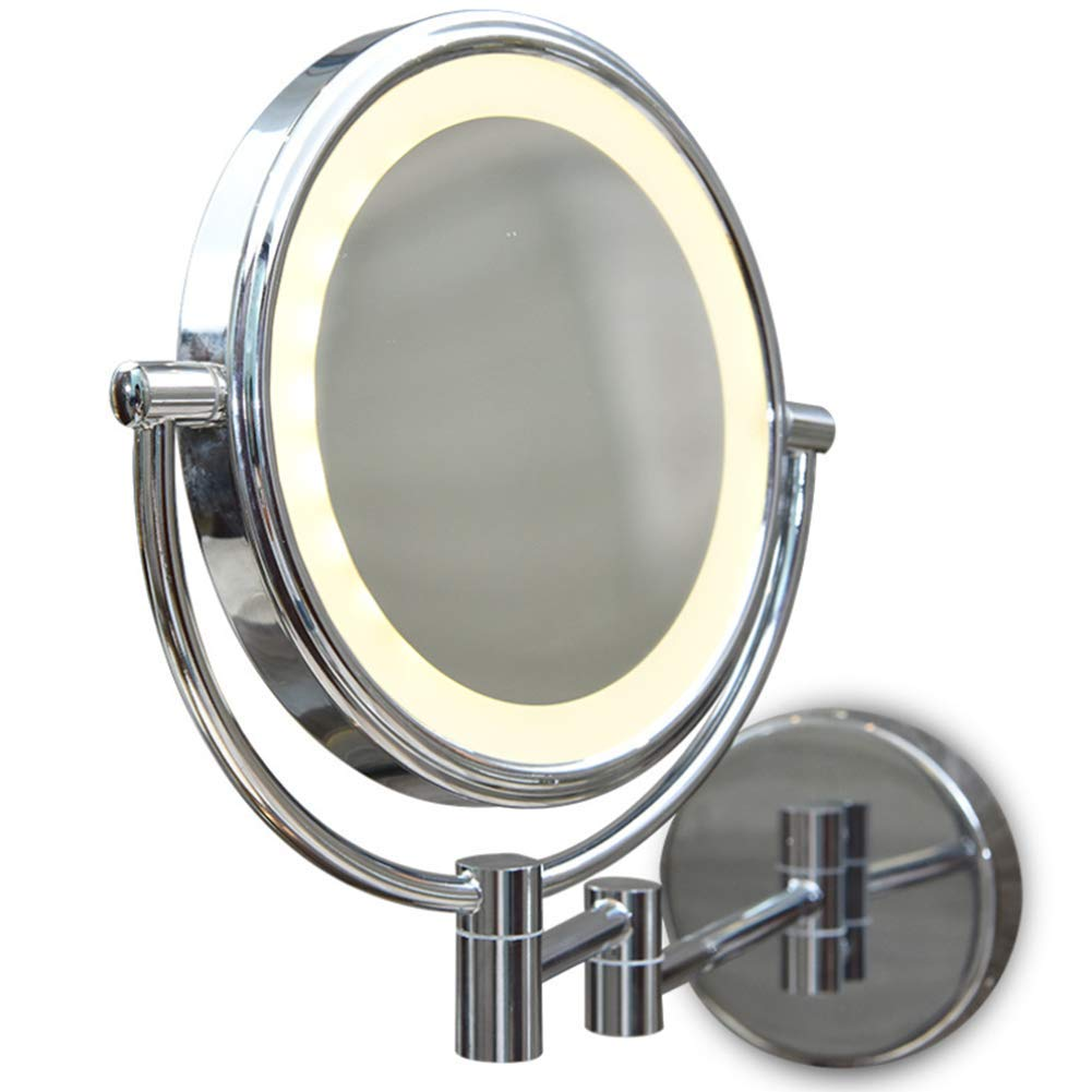 Mirror LED Light Wall Mounted Bathroom 8-Inch Extending Double Side Shaving Touch Switch for Bath,Spa and Hotel HMYH