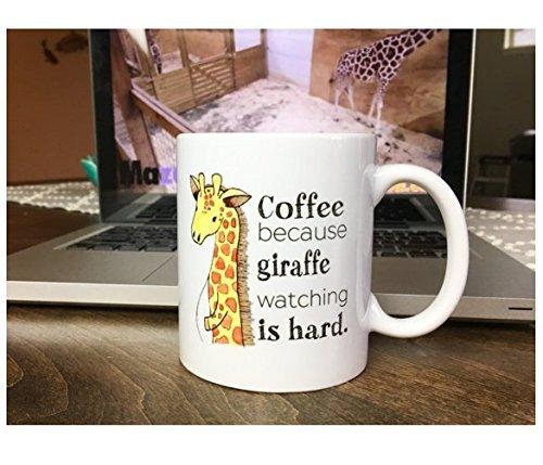 coffee because giraffe watching is hard mug // april giraffe / giraffe watch 2017 // giraffe watch mug // april the giraffe // pregnancy mug