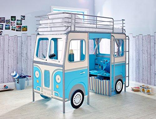 Etagenbett Bussy Bewertung : Etagenbett bussy police kinderbett polizeibus in blau