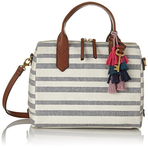 Fossil - Damentasche ? Fiona Satchel, Borse a secchiello Donna Multicolore (Blue Stripe)