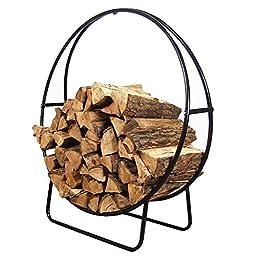 Sunnydaze Steel Firewood Log Hoop, 40-Inch Diameter