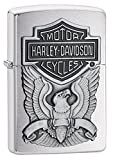 Zippo Harley-Davidson Eagle/Logo Emblem Lighter Pocket Lighter