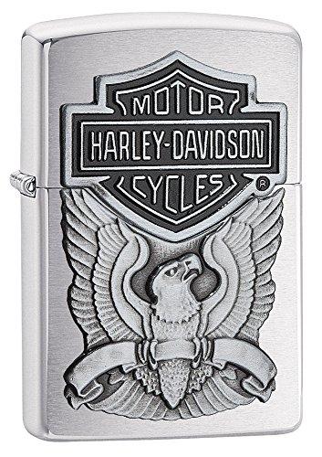 Zippo Harley-Davidson Eagle/Logo Emblem Lighter Pocket Lighter