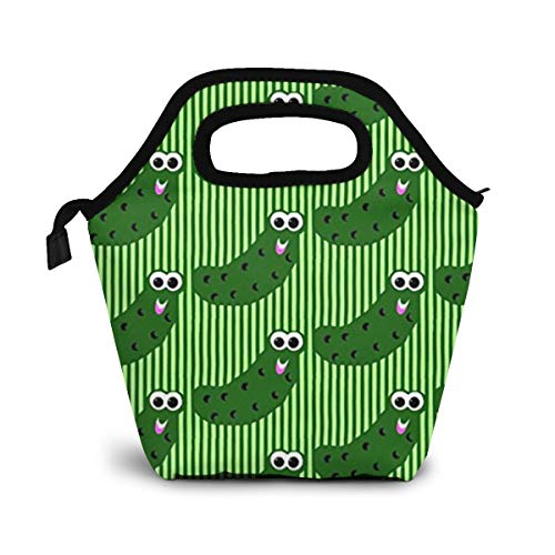Pickles Say He-Ey Lunch Organizer Lunch Holder Insulated Lunch Cooler Bag for Women/Men