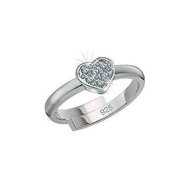 Silber 925 Zirkonia f/ür Kinder Ring