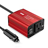 150W Power Inverter DC 12V to 110V AC adapter for Car with 3.1A Dual USB Charger for Laptop Smartphones - Nebulizer - Household Appliances in case Emergency Outage