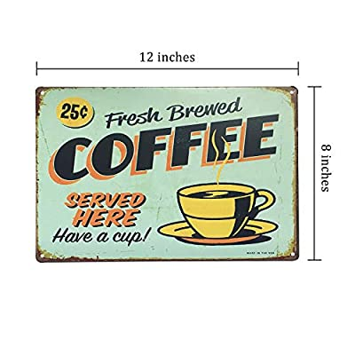 UNIQUELOVER Coffee Makes Everything Possible,Retro Vintage Metal Tin Signs Pub Bar Décor