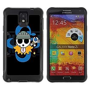 Pulsar Defender Series Tpu silicona Carcasa Funda Case para SAMSUNG Galaxy Note 3 III / N9000 / N9005 , Cute Gangsta Sign