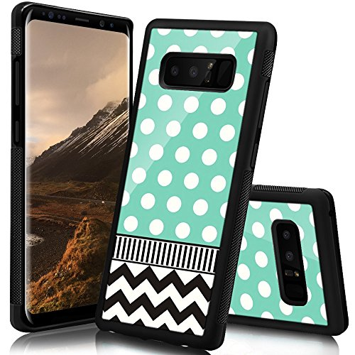Polka Note (Ademen Samsung Galaxy Note 8 Case, Polka Dots Chevron Design Hard PC Soft Silicone Protective Durable Shockproof Case For Samsung Galaxy Note8)