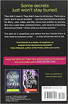 a review of lois duncans i know what you did last summer Read common sense media's i know what you did last summer review parents need to know that i know what you did last summer it derives from a lois duncan.