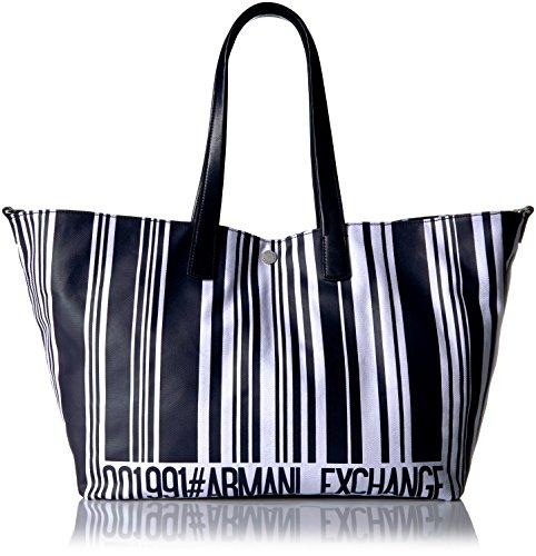 A|X Armani Exchange Barcode Print Shopping Bag, - Bag Armani Shopping
