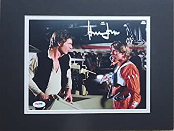 Star Wars Harrison Ford Autographed Matted Photo w/Mark Hamill PSA/DNA