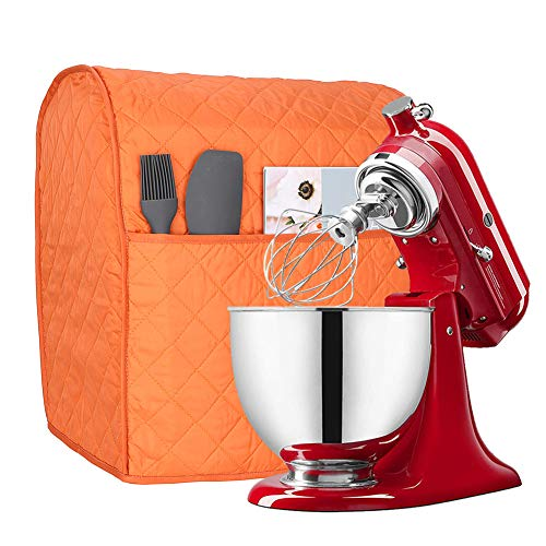 6-8 Quart Kitchen Aid Mixer Cover with Pockets, Kitchen & Dining Small Appliance Organizer Dust Cover for Kitchen Aid…