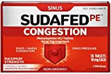 SUDAFED PE Congestion Maximum Strength Non-Drowsy Tablets 36 ea (10 Pack)