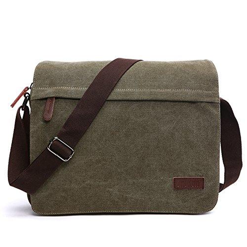 NANJUN Vintage Canvas Messenger Bag Shoulder Bags for Men Women(jb007-Army-m)