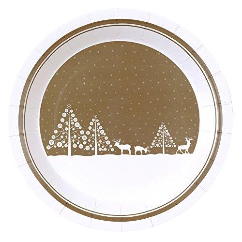Winter Wunderland Weihnachts-Teller, 8 Stück