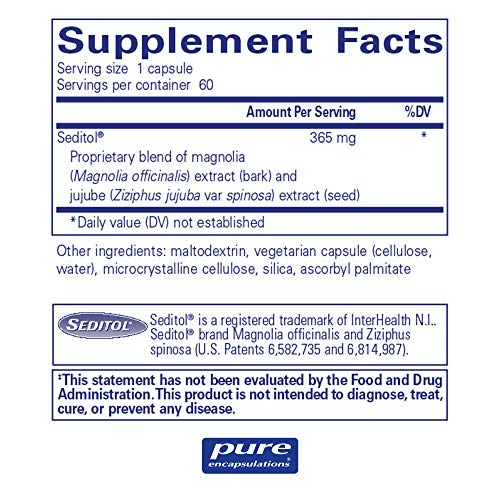 Pure Encapsulations - Seditol - Hypoallergenic Dietary Supplement to Promote Restful Sleep and Relaxation* - 60 Capsules by Pure Encapsulations (Image #1)