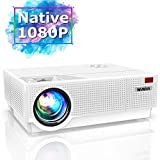 Projector, WiMiUS Newest P28 6800 Lumens LED Projector Native 1920x1080 Video Projector Support 4K Dolby 300'' Screen 4D ±50°Keystone Correction for Home Theater and PPT Presentation