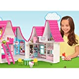 2 Story Hello Kitty Foldable Dollhouse with 6 Indoor Rooms
