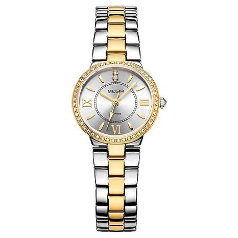 North King Relojes Minimalistas Relojes Fecha Pantalla señoras Reloj Elegante de Cuarzo Bonito para Regalo de