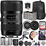 Sigma 18-35mm F1.8 Art DC HSM Lens for Canon EF with Advanced Photo and Travel Bundle - Includes Sigma USB Dock, AirBag Packable Bag, SanDisk 64gb SD Card, Altura Photo Mini Tripod