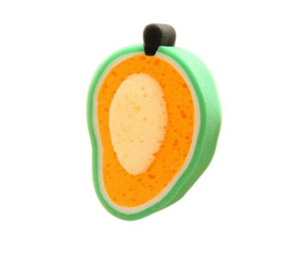 Da.Wa Dishwashing Sponge Cute Mango Shape Eco-friendly Cleaning Towels Kitchen Dish Bowl Scouring Sponge Cleaning Pad Sponge Scouring Pad