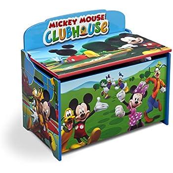 Amazon Com Delta Children Deluxe Toy Box Disney Mickey