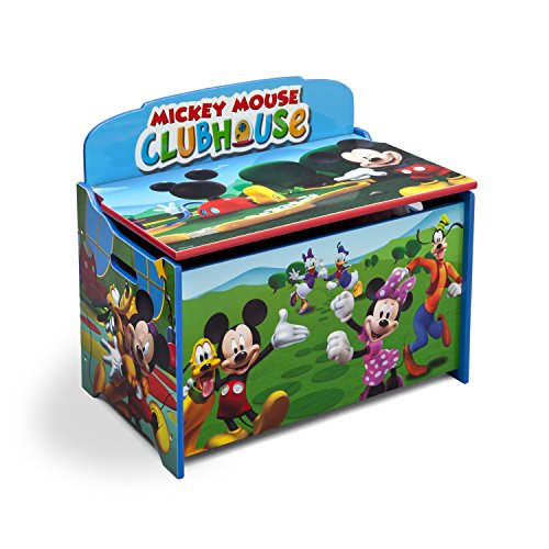 Wood Deluxe Toy - Delta Children Deluxe Toy Box, Disney Mickey Mouse