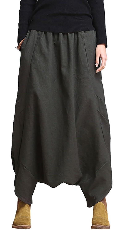 Ilishop Women's Travel Wide Leg Pants Irregular Culotte