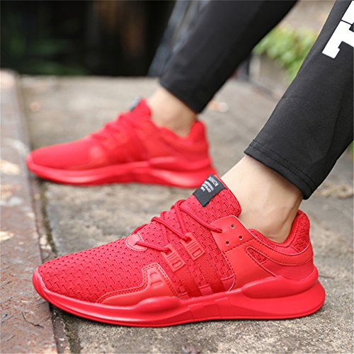 Women Sport Sneaker Black Shoes Mens Red D Running Hand Athletic UBFen Casual White Outdoor Fashion Walking Woven and Fitness Trainers Indoor qv5A6nW