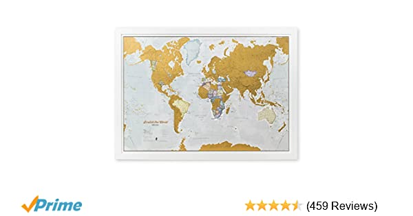 Amazon maps international scratch the world travel map amazon maps international scratch the world travel map scratch off world map poster most detailed cartography 33 x 23 office products gumiabroncs Images