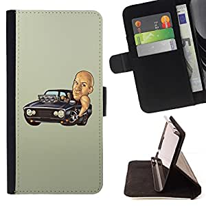 For Samsung Galaxy S5 Mini, SM-G800 Funny Fast Furious Diesel Car Style PU Leather Case Wallet Flip Stand Flap Closure Cover