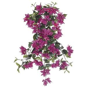 House of Silk Flowers Artificial 24-inch Violet Fuchsia Bougainvillea Trailing Bush (Set of 6) 80