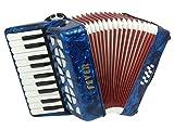 Fever Piano Accordion 22 Keys 8 Bass, Blue