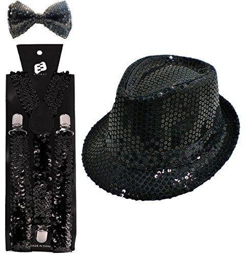 [Enimay Halloween Showgirl Jazz Dance Costume Sequin Black] (Jazz Dancer Halloween Costume)