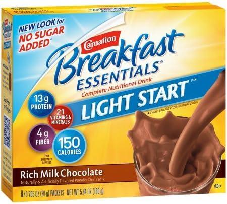Carnation Breakfast Essentials Drink Mix, Rich Milk Chocolate (Pack of 4)